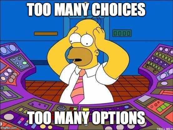 INTEGU - Too many options