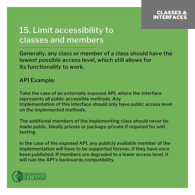 INTEGU-java-best-practices-15-Limit-access-to-class-members
