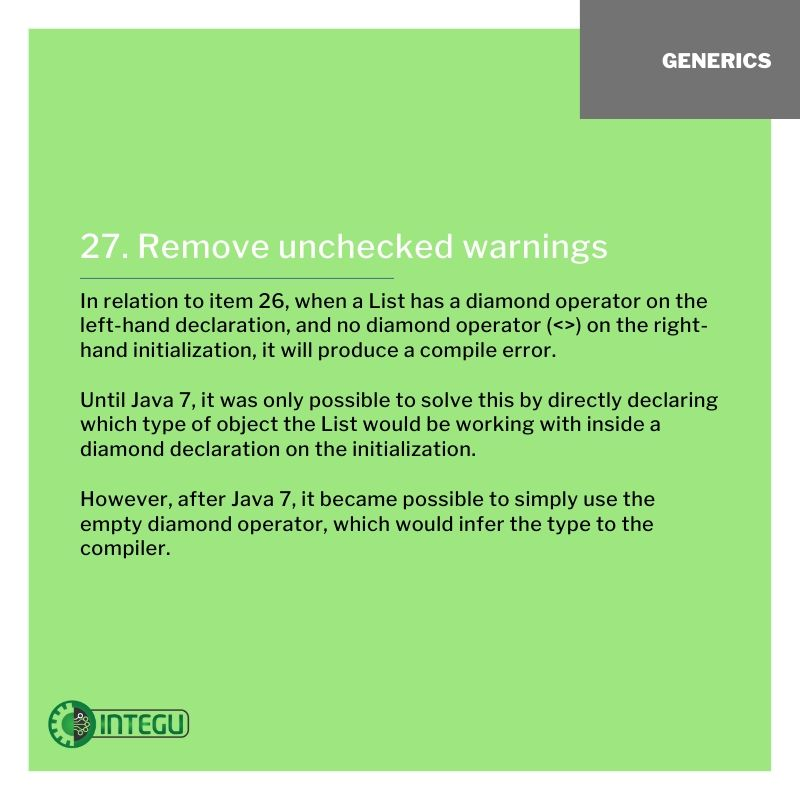INTEGU-java-best-practices-27-Generics-unchecked-warnings