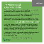 INTEGU-java-best-practices-49-argument-validity-50-defensive-copies