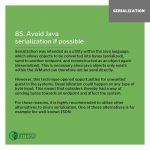 INTEGU-java-best-practices-85-Avoid-serialization